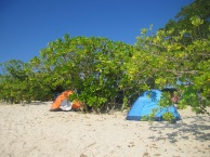 Camping at Calaguas Island, Camarines Norte
