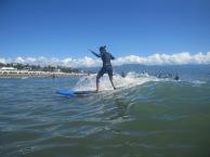 Surfing at Sabang Beach, Baler, Aurora, Quezon